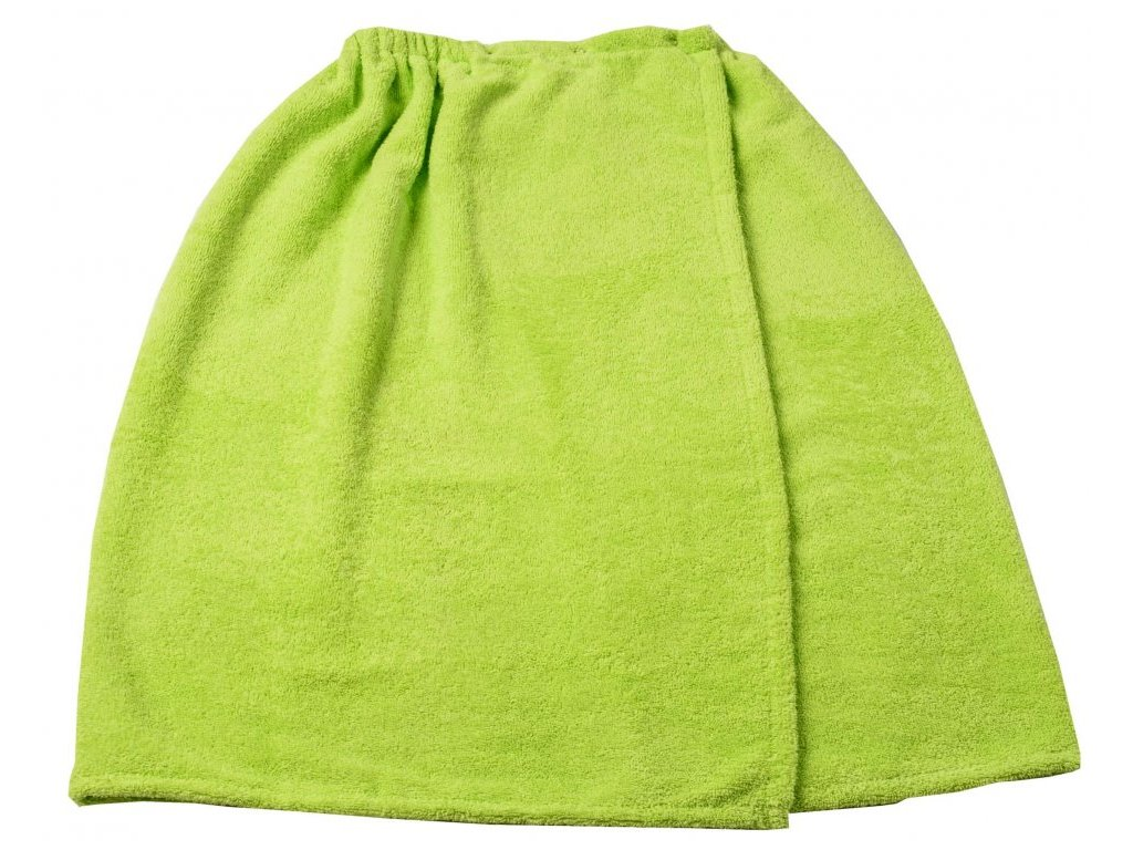 Zelený froté sauna kilt 75/130cm  397