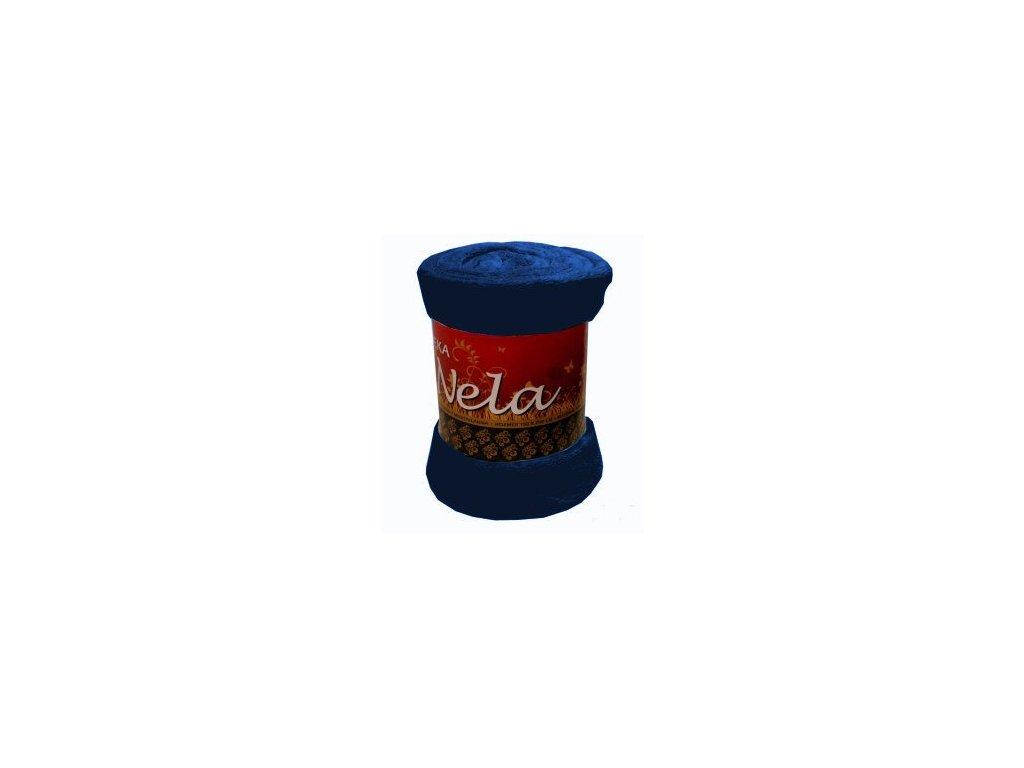 Deka NELA tmavě modrá 150/200 cm