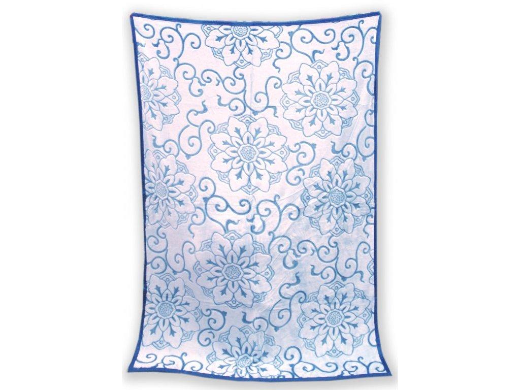 Deka mikro vzorovaná 200/220 cm - Gita modrá
