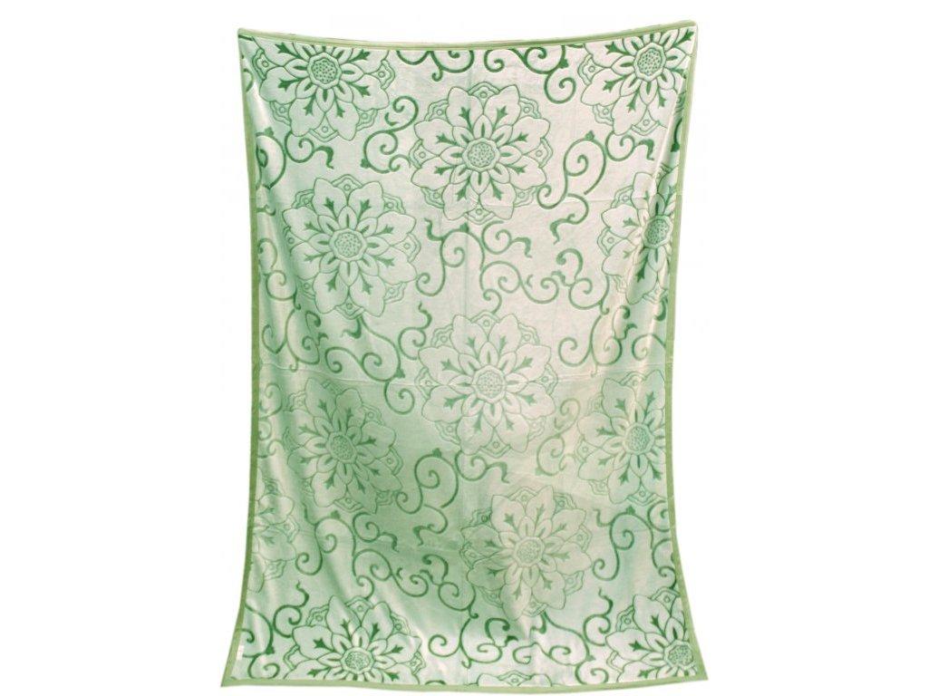 Deka mikro vzorovaná 150/200 cm - Gita zelená