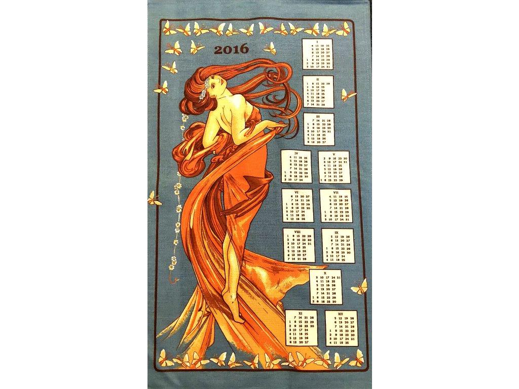 Utěrka kalendář 40/70 cm - Panna  371