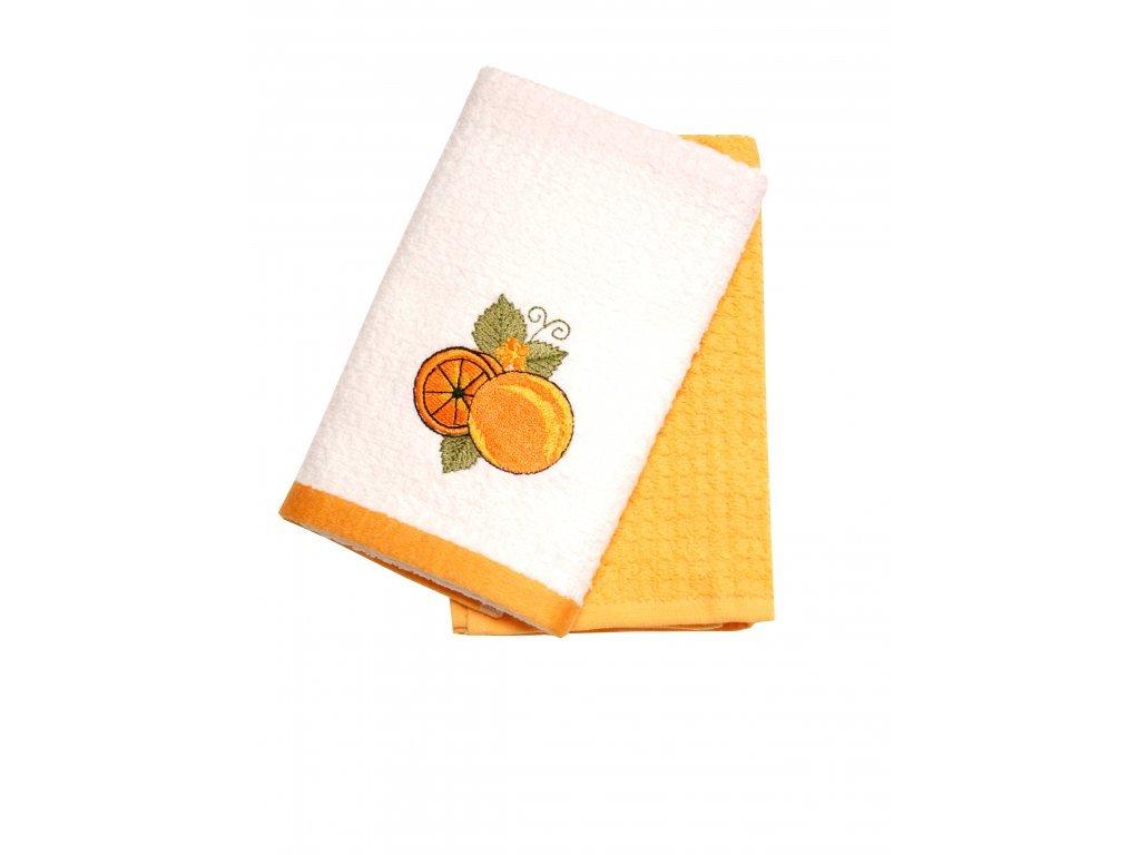 Froté utěrky-pomeranč