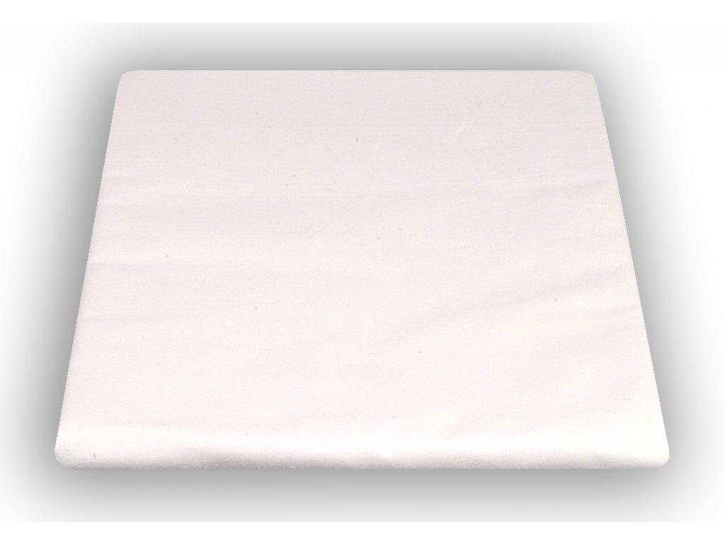 Bílé bavlněné prostěradlo 220/240 cm 150 g/m2  346