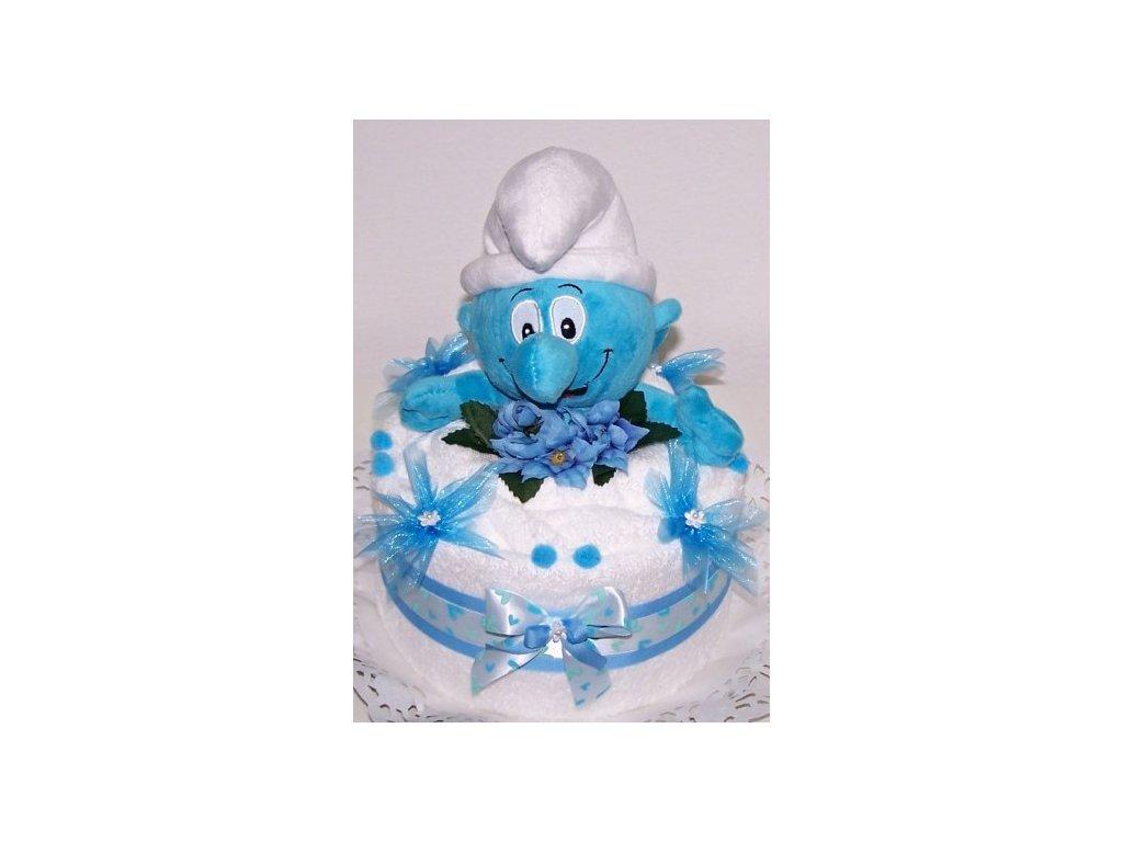 Ručníkový dort ŠMOULA