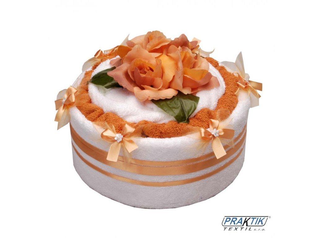 Ručníkový dort RŮŽE 1 patro