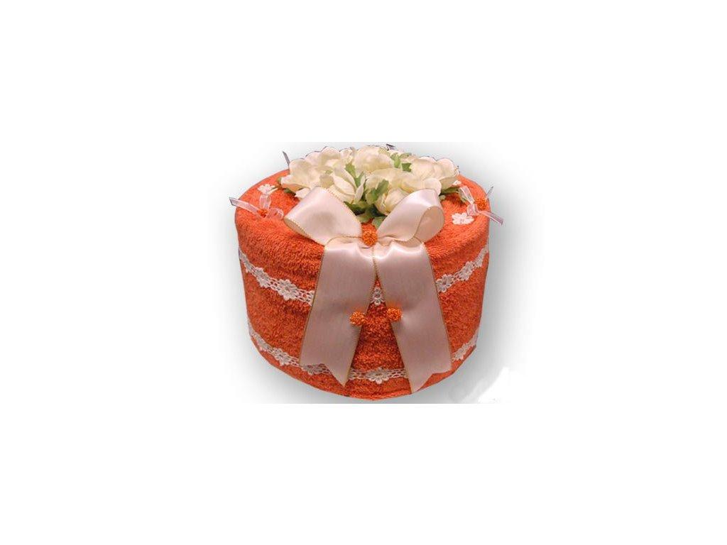 Dárkový dort z froté - Sasankové lože