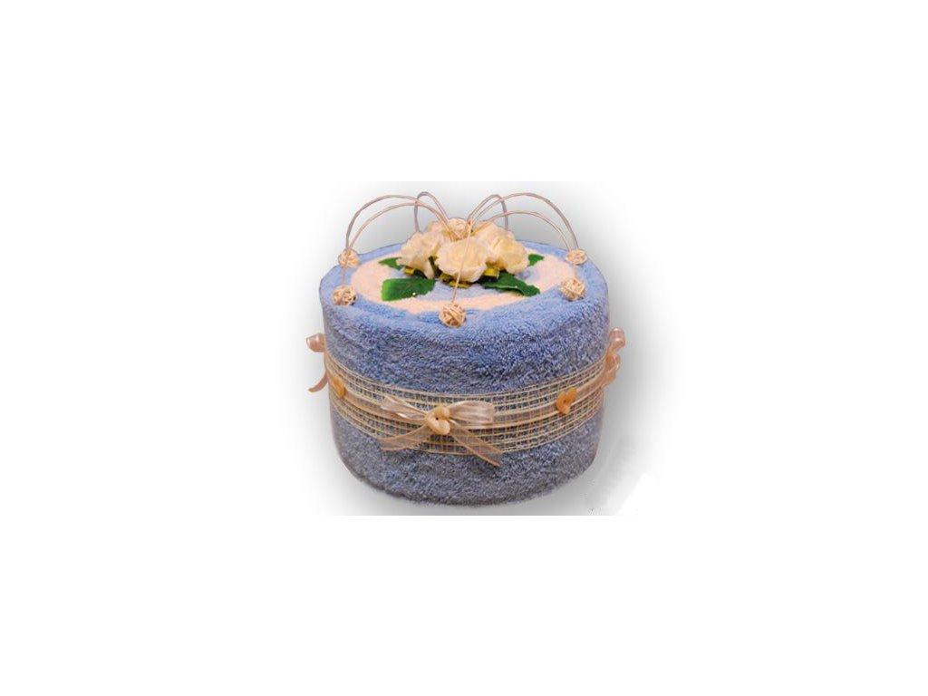 Dárkový dort z froté - Modré z nebe