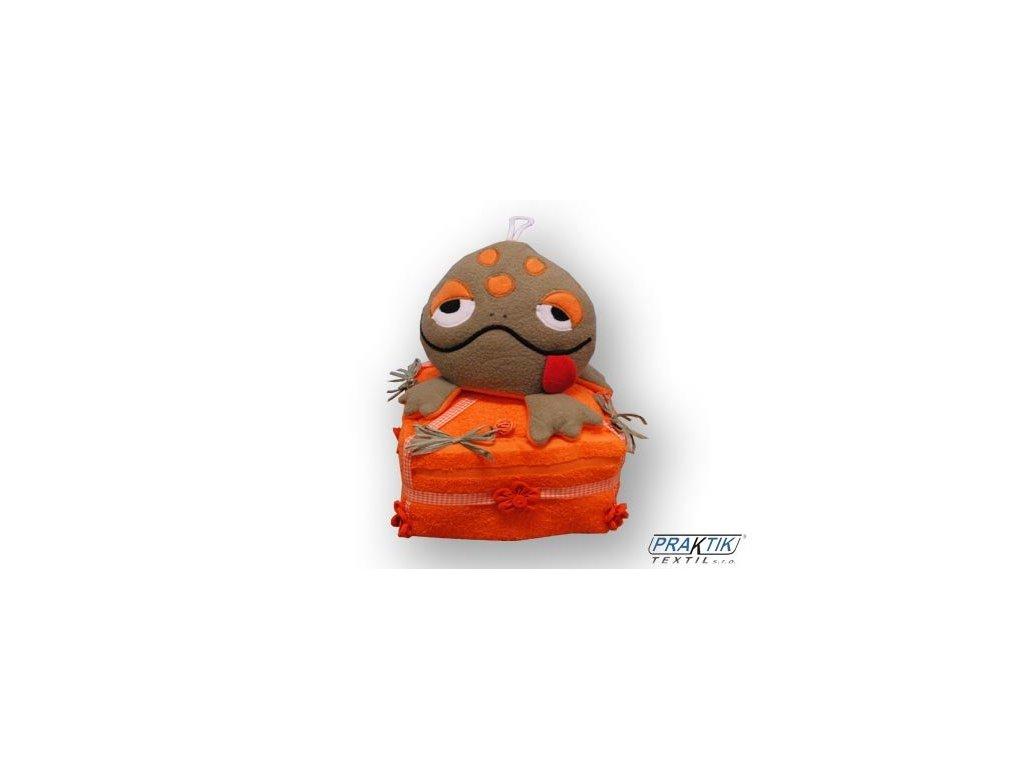 Dárkový dort z froté - Sedící žabák
