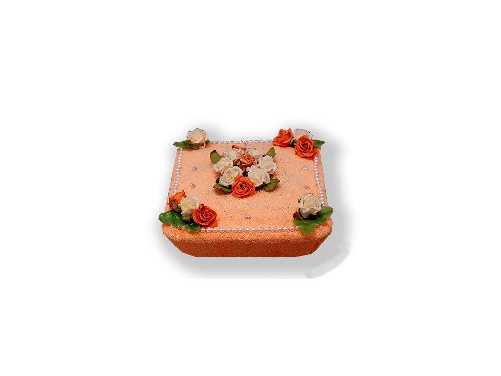 Dárkový dort z froté - Darované růže