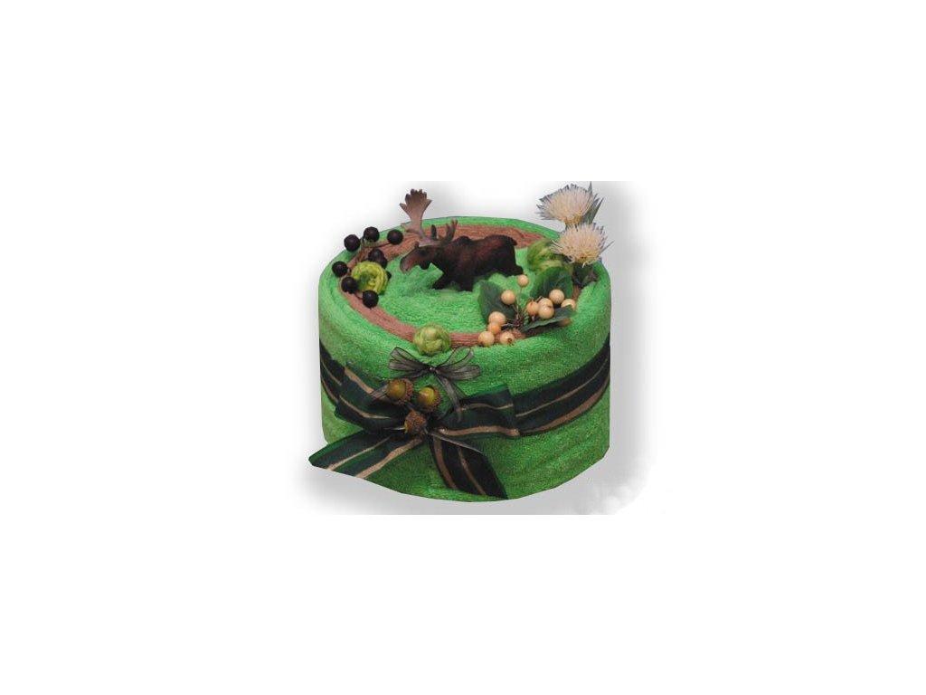 Dárkový dort z froté - Jelen v říji
