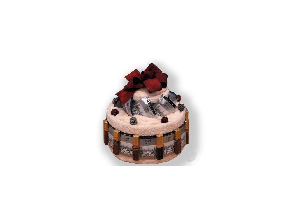Dárkový dort z froté - Čaj o páté
