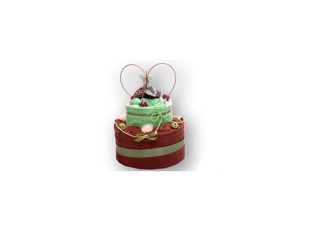 Dárkový dort z froté - Nádech přírody