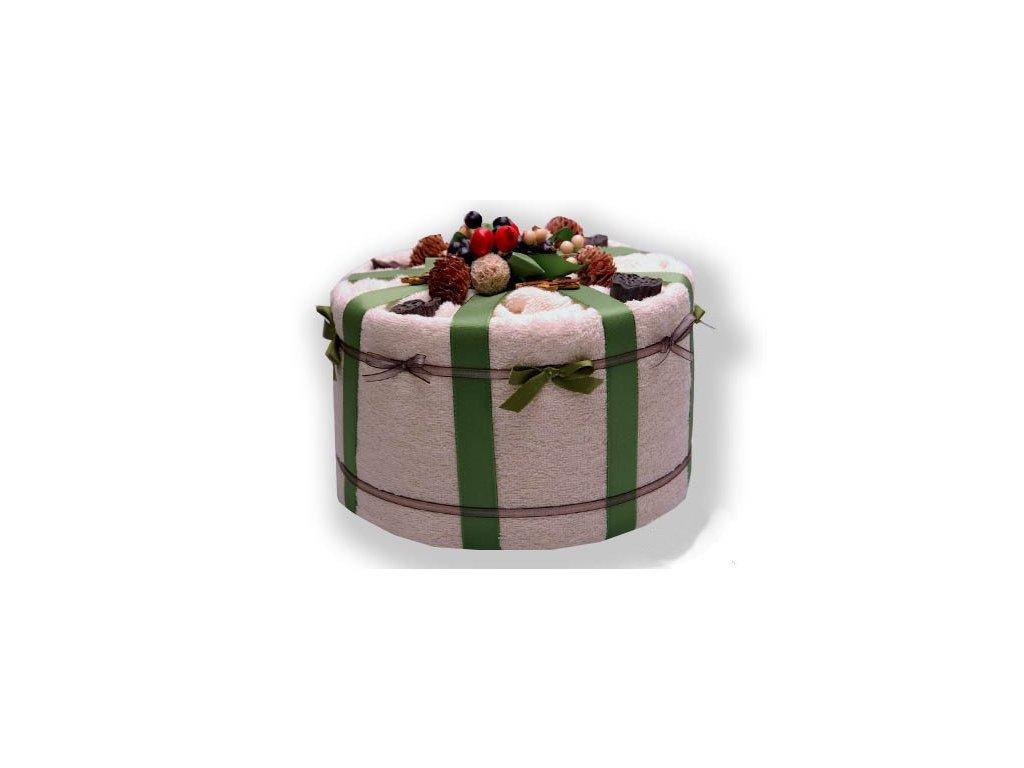 Dárkový dort z froté - Plody přírody
