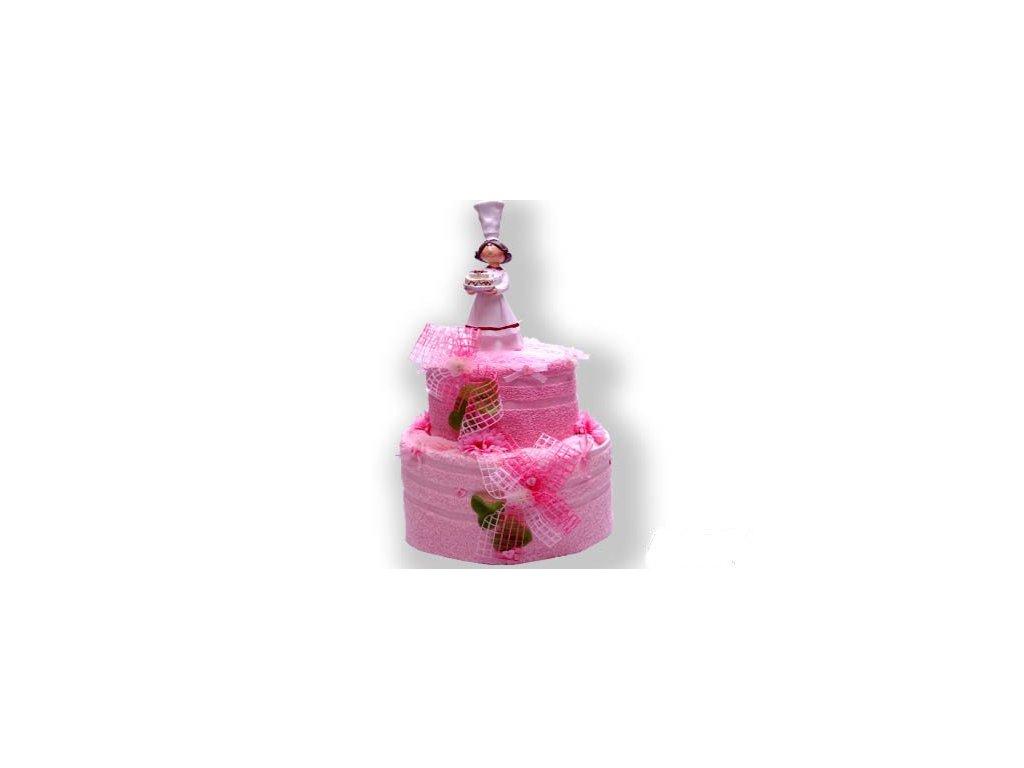 Dárkový dort z froté - Dort od kuchařky