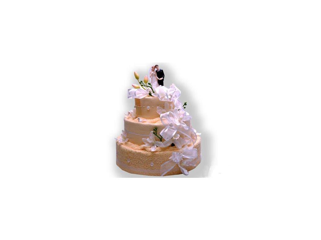 Dárkový dort z froté - Svatební sen