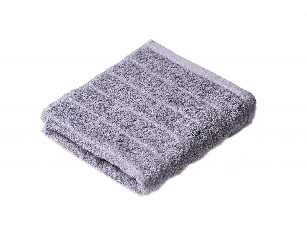 Šedý Froté ručník Lian 50/100 cm