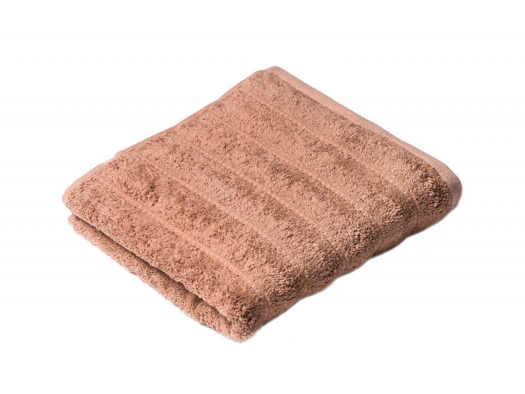 Hnědý Froté ručník Lian 50/100 cm