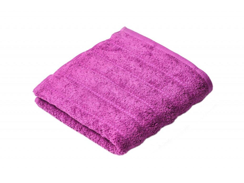 Fialový Froté ručník Lian 50/100 cm