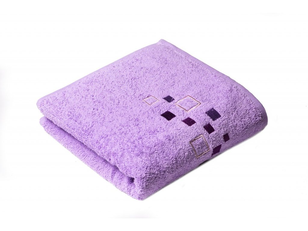 Fialový Froté ručník DENIS 50/100 cm