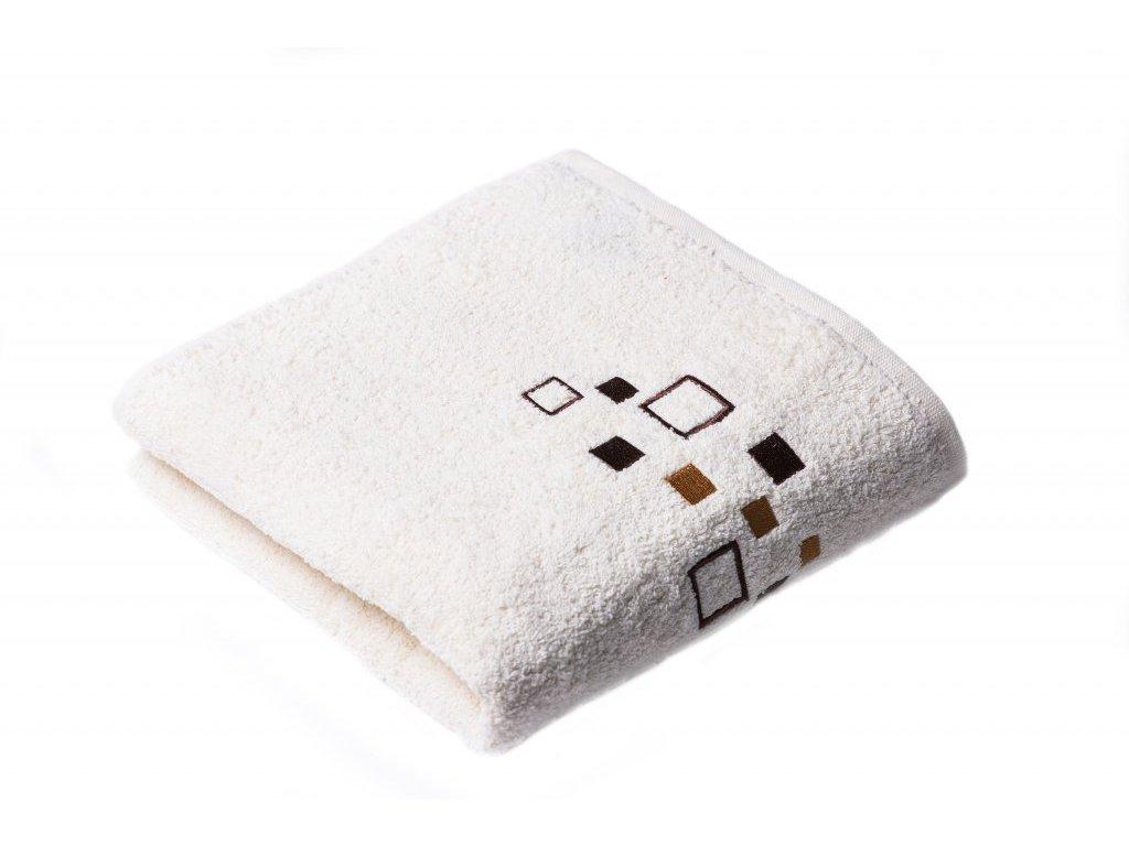 Máslový Froté ručník DENIS 50/100 cm