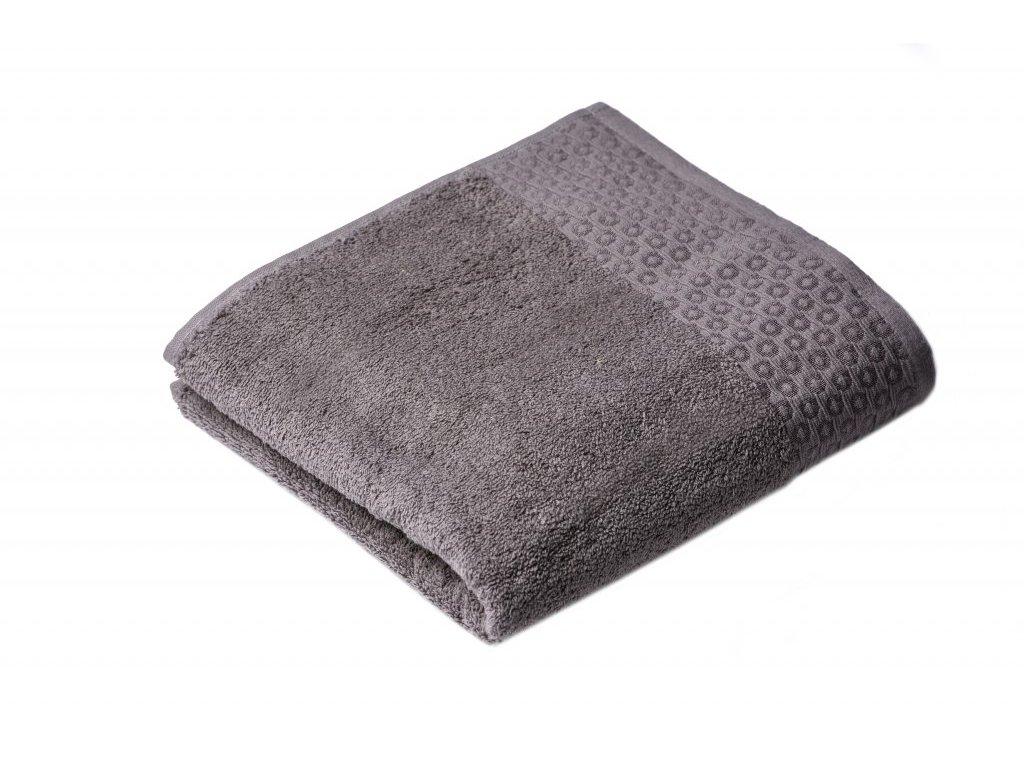 Šedý Froté ručník Marllin 50/100 cm