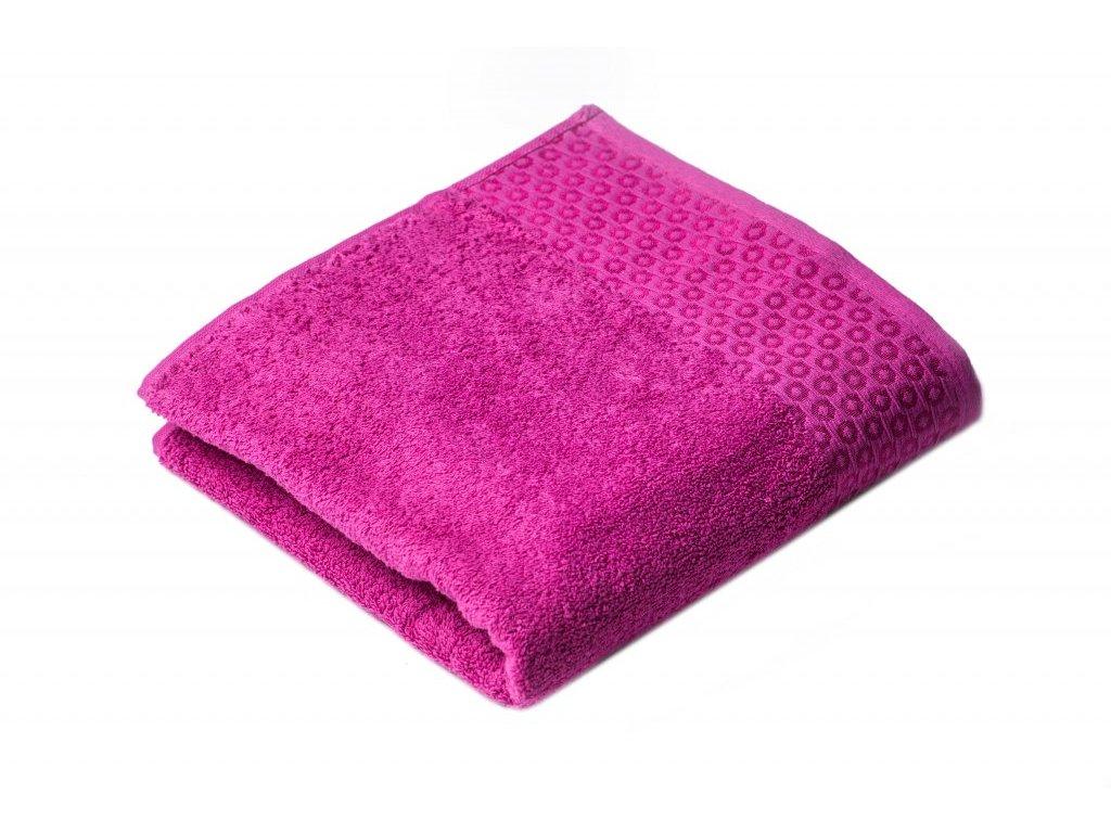 Růžový Froté ručník Marllin 50/100 cm