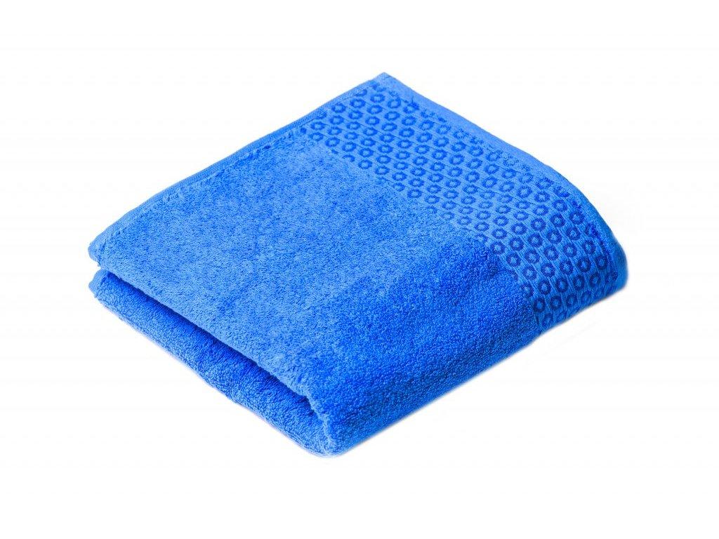 Modrá Froté osuška Marllin 70/140 cm