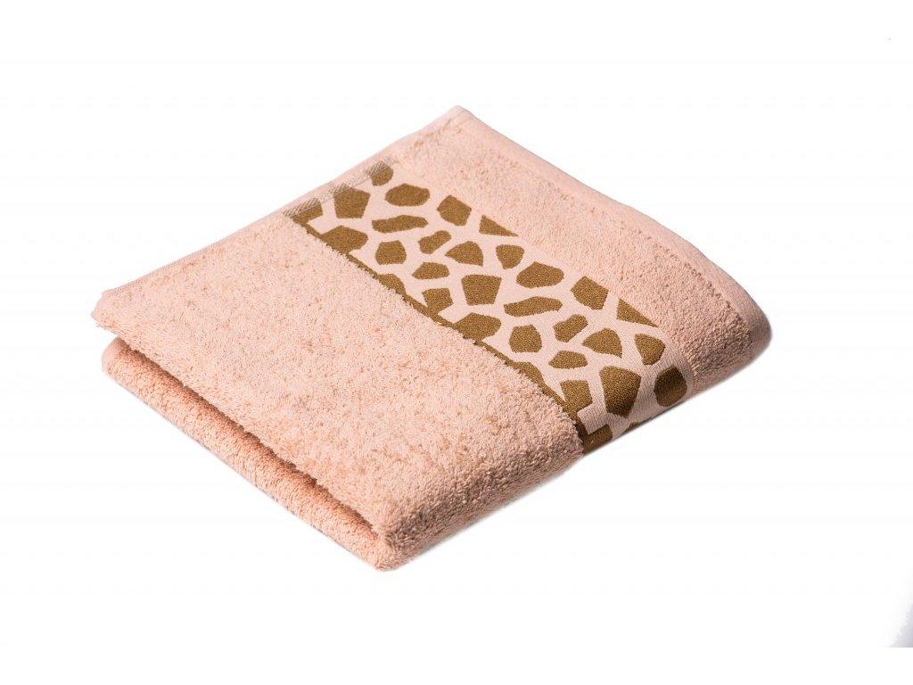 Lososový Froté ručník Elise 50/100 cm