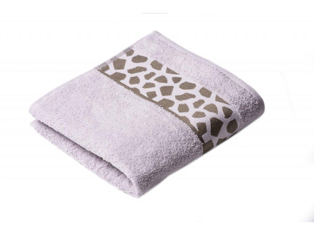 Šedý Froté ručník Elise 50/100 cm