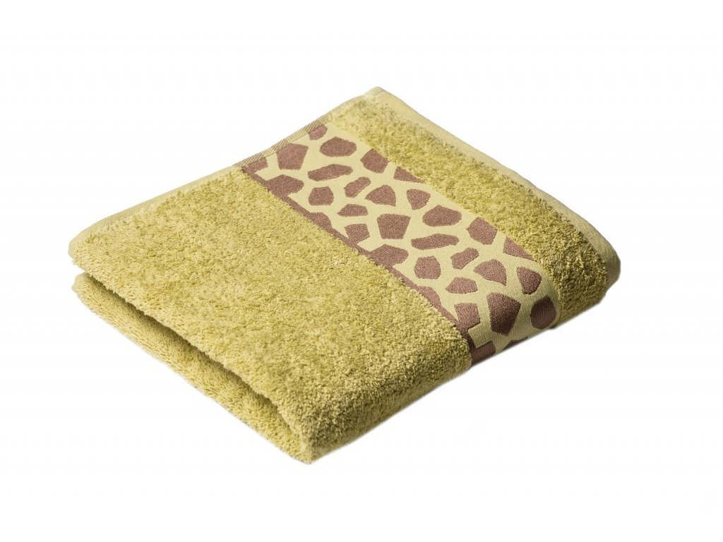 Zelený Froté ručník Elise 50/100 cm