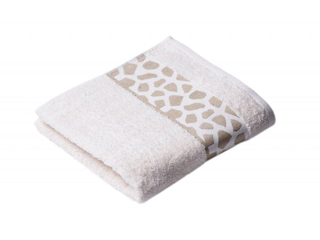 Máslový Froté ručník Elise 50/100 cm