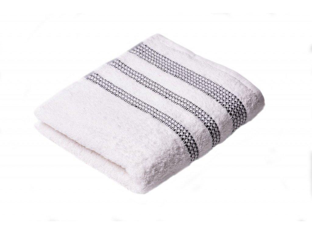 Bílý Froté ručník Roxy 50/100 cm