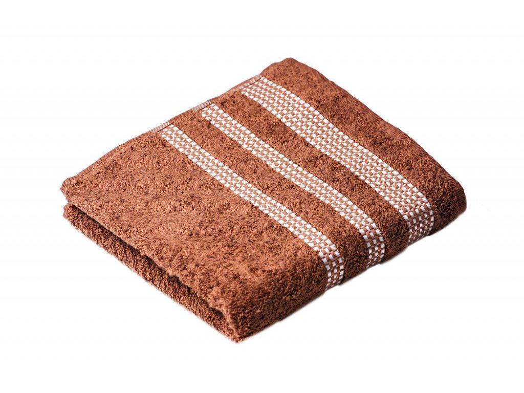 Hnědý Froté ručník Roxy 50/100 cm