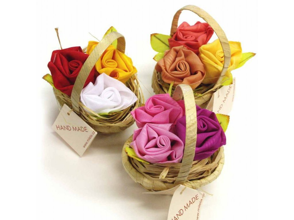 Dámský kapesník tkaný růže 3 ks