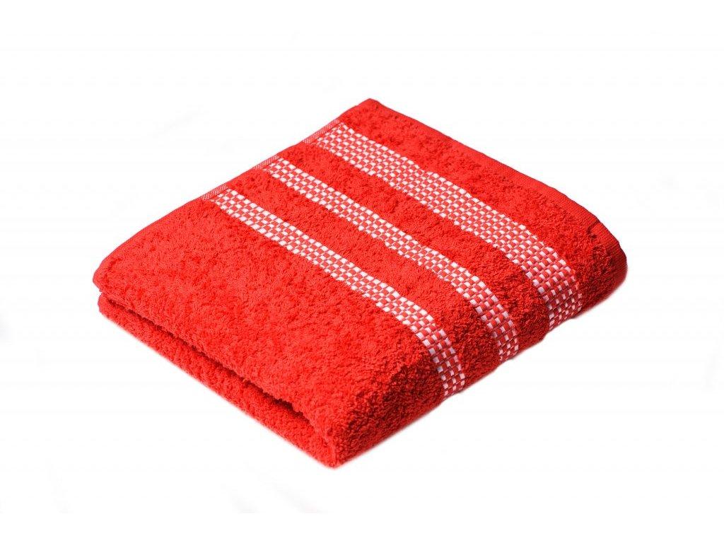 Červený Froté ručník Roxy 50/100 cm