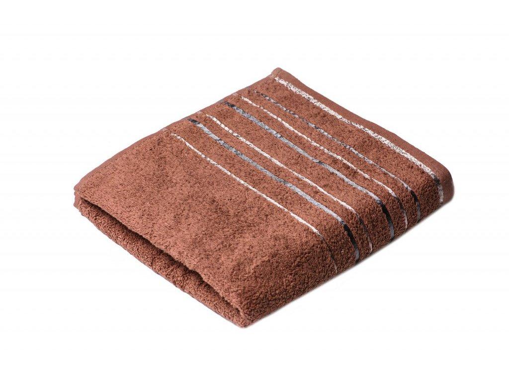Hnědý froté ručník Zara 50/100 cm