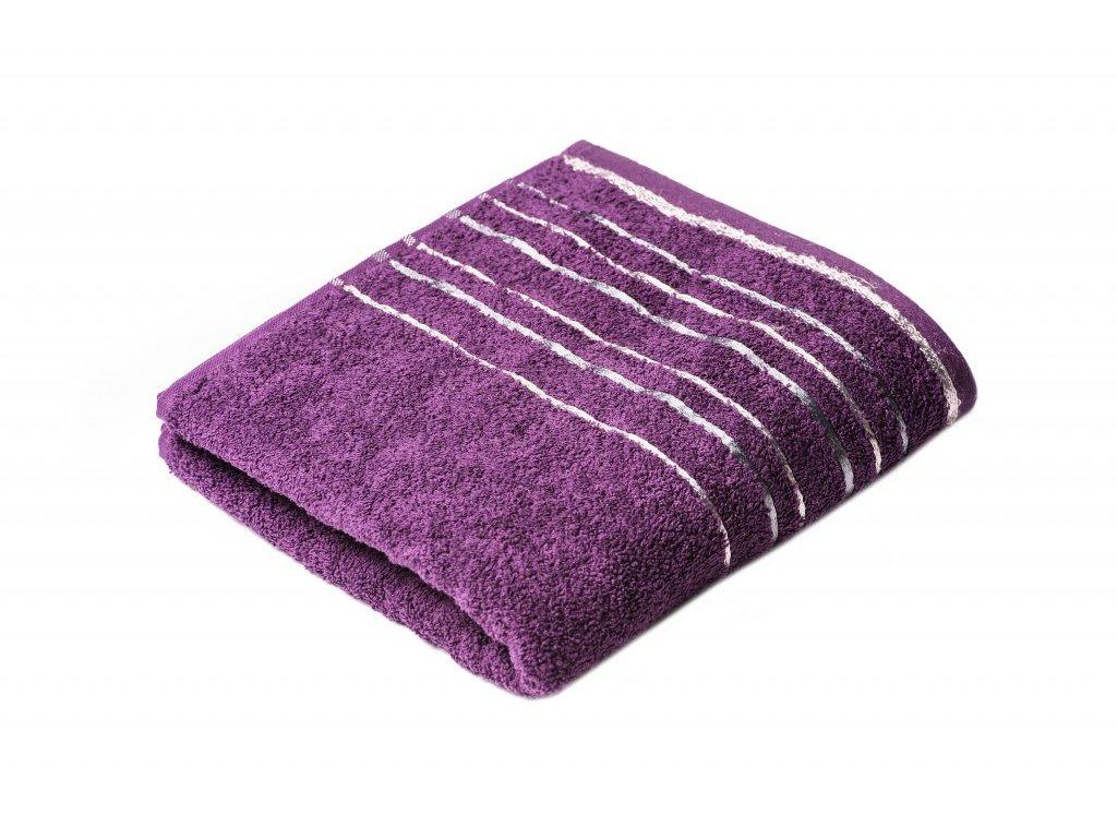 Fialový froté ručník Zara 50/100 cm