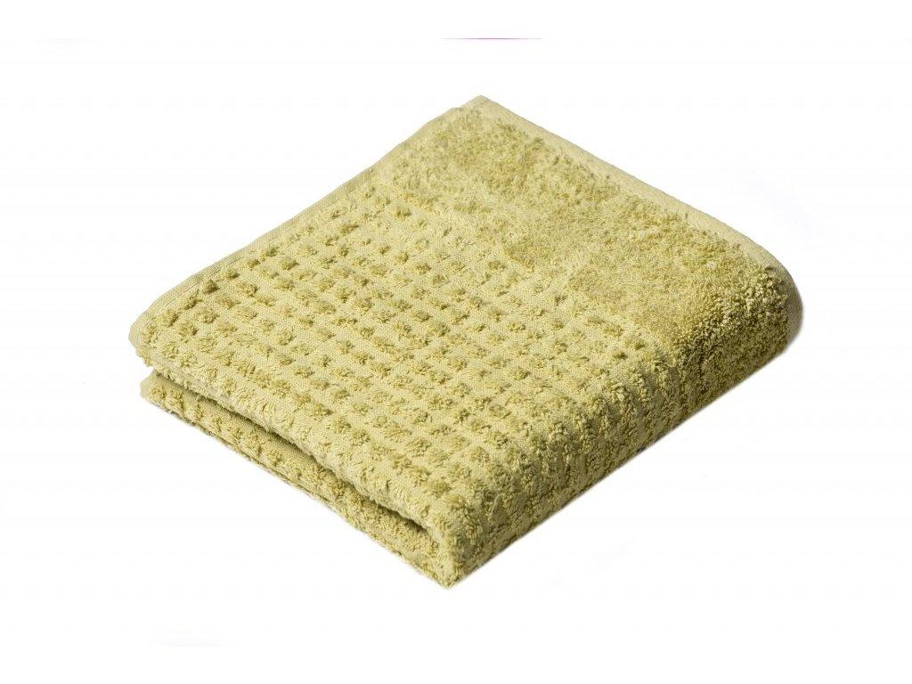 Zelený Froté ručník Carin 50/100 cm
