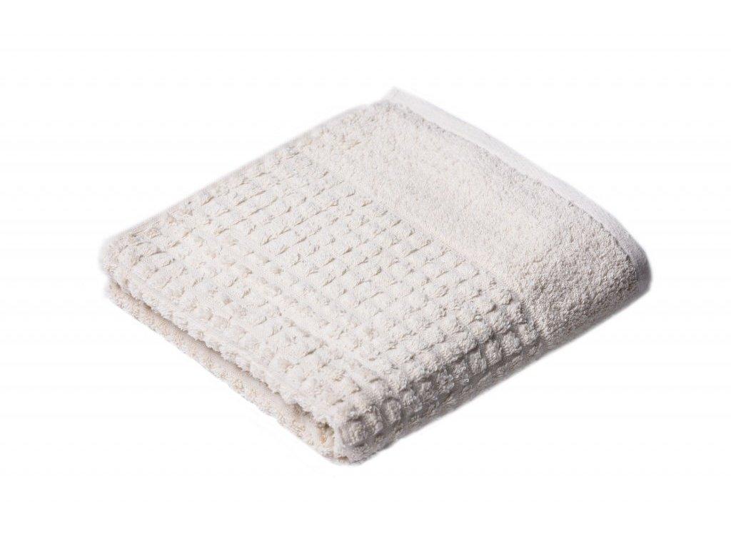 Máslový Froté ručník Carin 50/100 cm