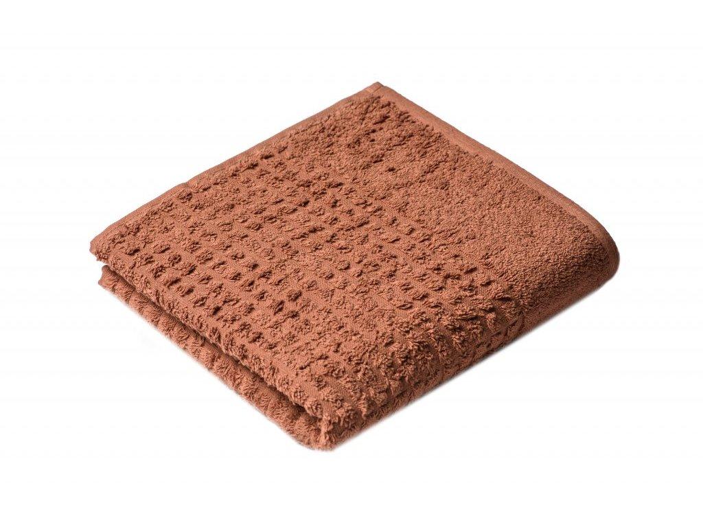 Hnědý Froté ručník Carin 50/100 cm