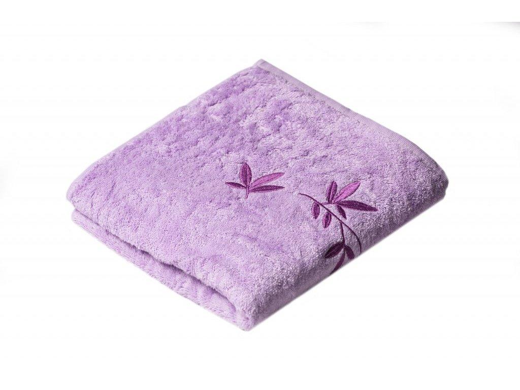 Fialový Froté ručník KONGO 50/100 cm