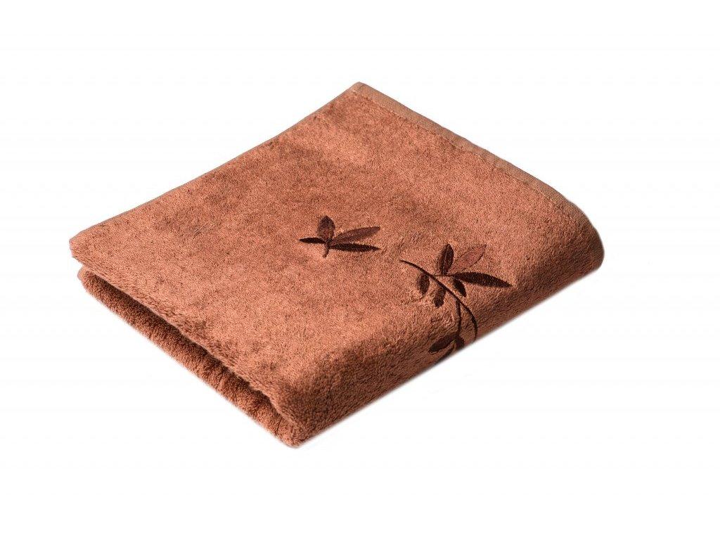 Hnědý Froté ručník KONGO 50/100 cm