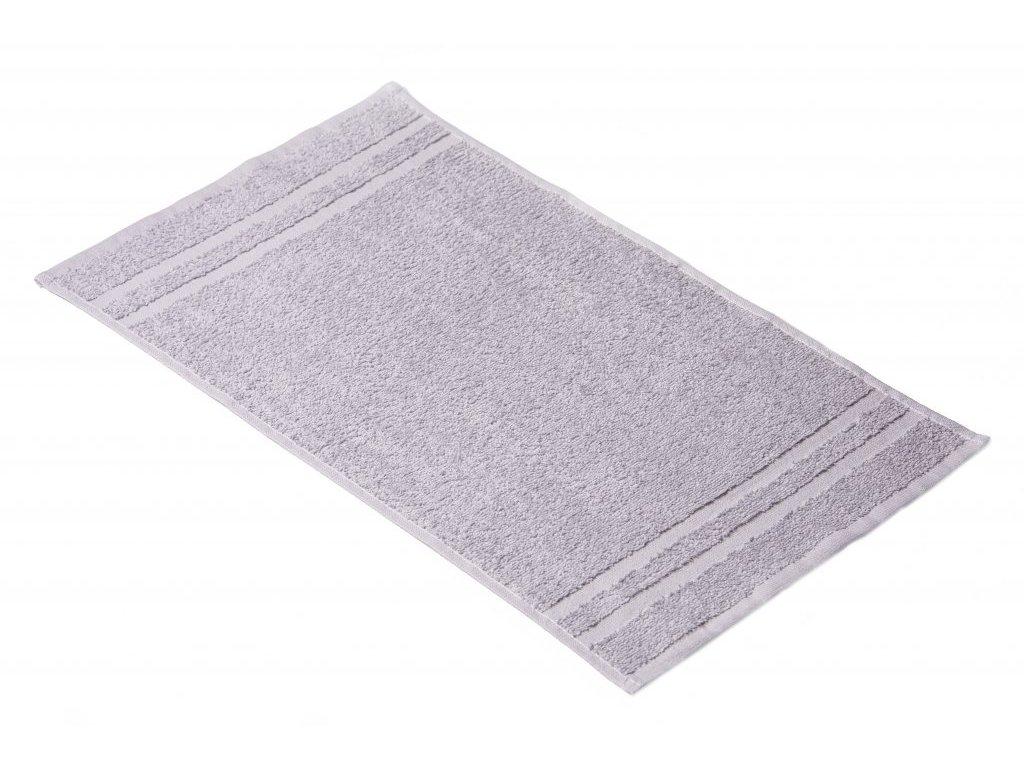 Šedý Froté ručník EMA 30/50 cm