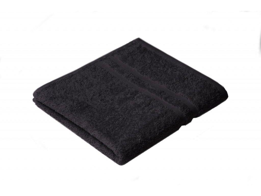 Černý Froté ručník EMA 50/100 cm