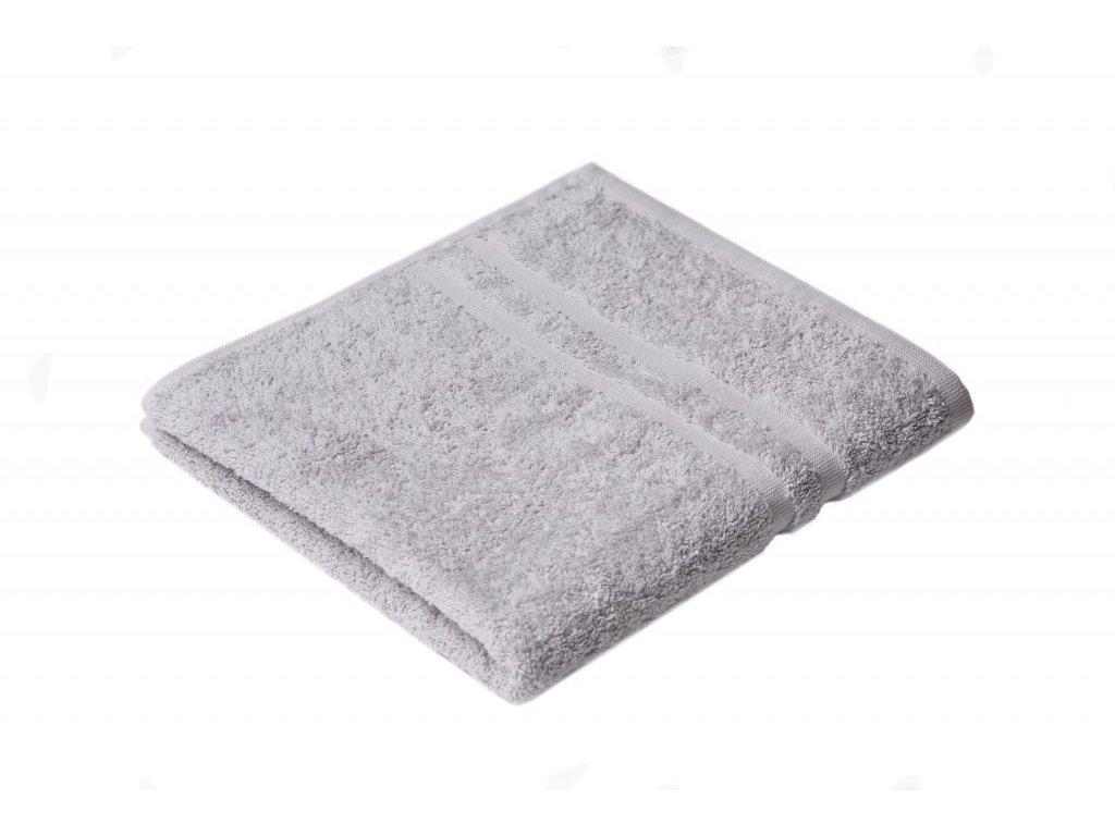 Šedý Froté ručník EMA 50/100 cm