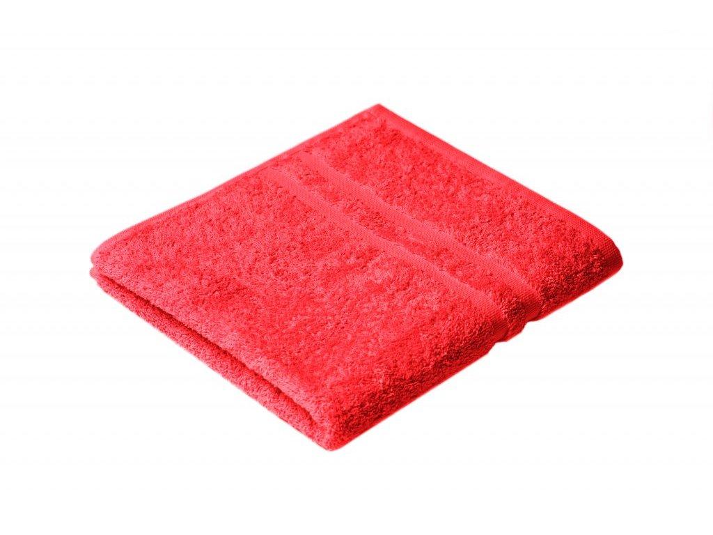 Červený Froté ručník EMA 50/100 cm