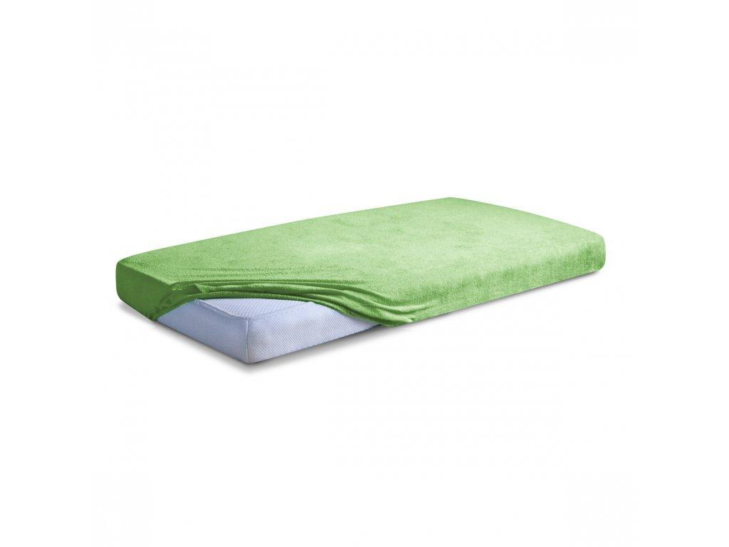 Světle zelené Froté prostěradlo 90/200 cm
