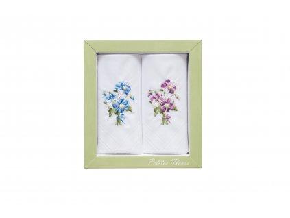 Dámský kapesník tkaný 2 ks Garden  27805