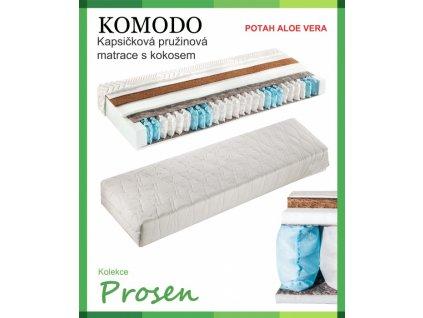zdravotni matrace pruzinova komodo potah aloe vera original