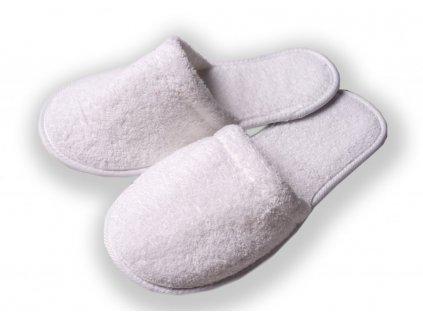 Froté pantofle plná špička
